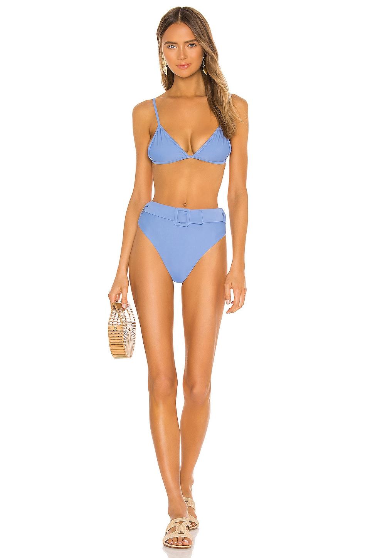 Camila Coelho sizzled in Matching sea breeze Camila Coelho high rise bikini bottom