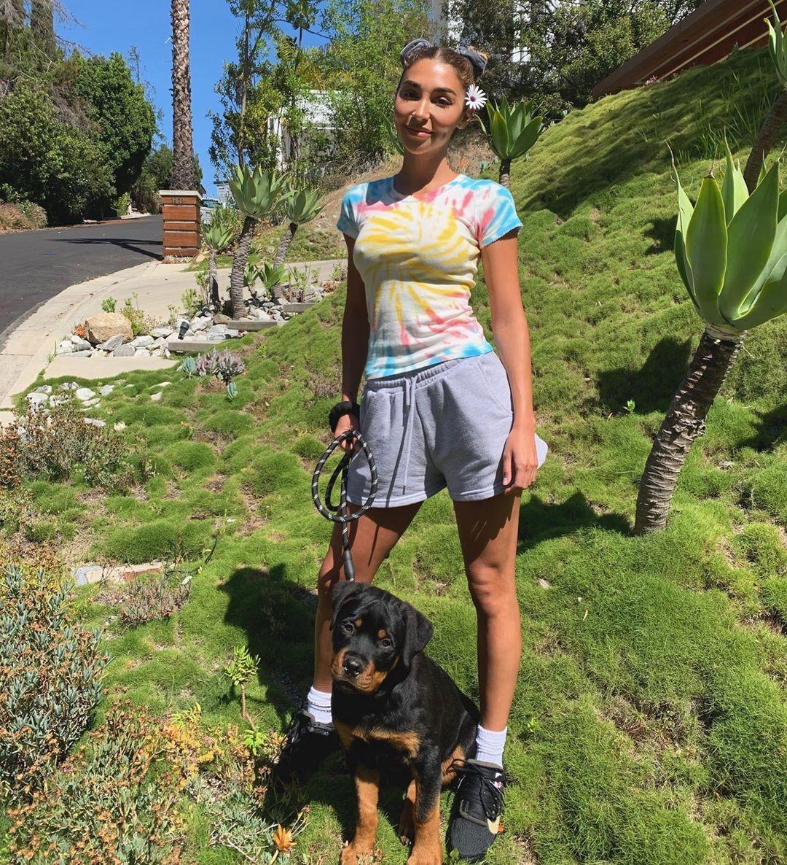 Chantel Jeffries wearing black Nike lace-up sneakers