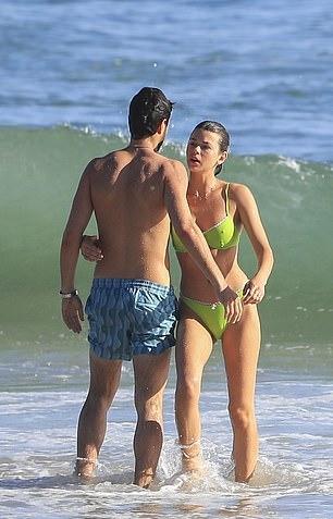 Georgia Fowler rocking Green bikini bottom