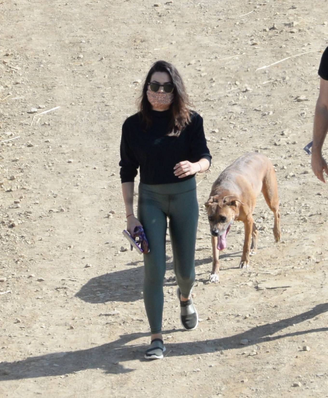 Jenna Dewan wearing round black white sneakers with contrasting sole