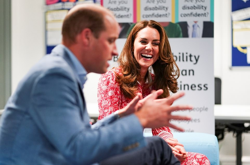 Kate Middleton wearing pointy brown Ralph Lauren pumps with high heel