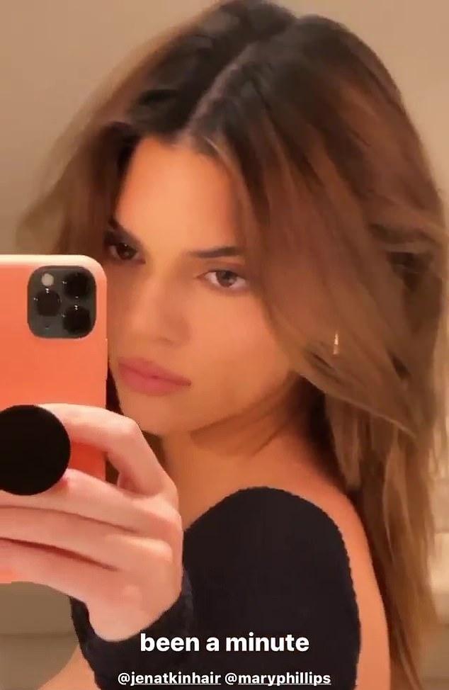 Kendall Jenner, black bodysuit, short, full sleeves, scoop neck, figure hugging, make the most, comfortable, long legs. Kendall Jenner rocking a Figure hugging bodysuit with full sleeves and a scoop neck