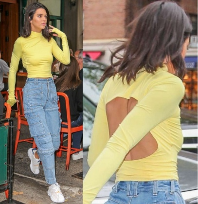 Just when you thought that extra sleeves is the highlight for this top, you haven't seen the back.