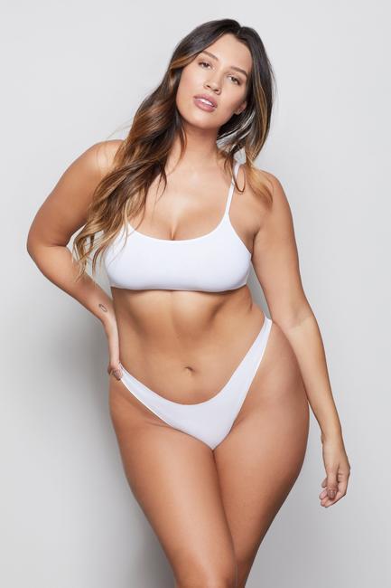 Khloe Kardashian donning White Good American thong
