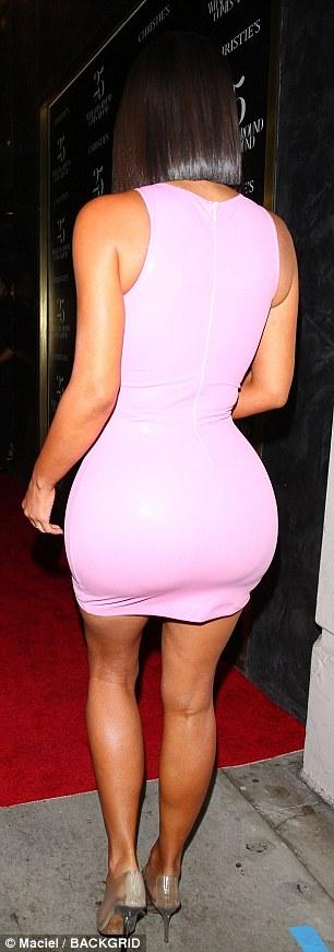 Kim Kardashian rocking see-through Yeezy PVC pumps with pointy heel and PVC-straps