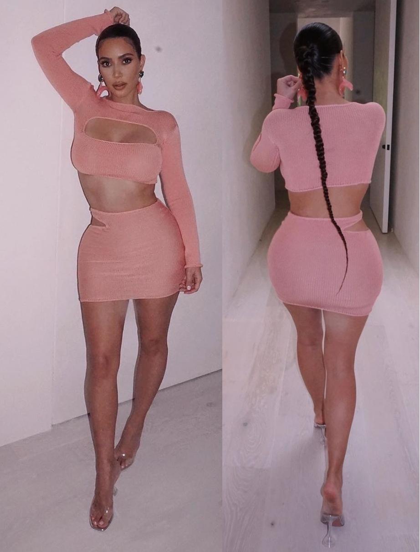 Kim Kardashian rocking see-through PVC pumps