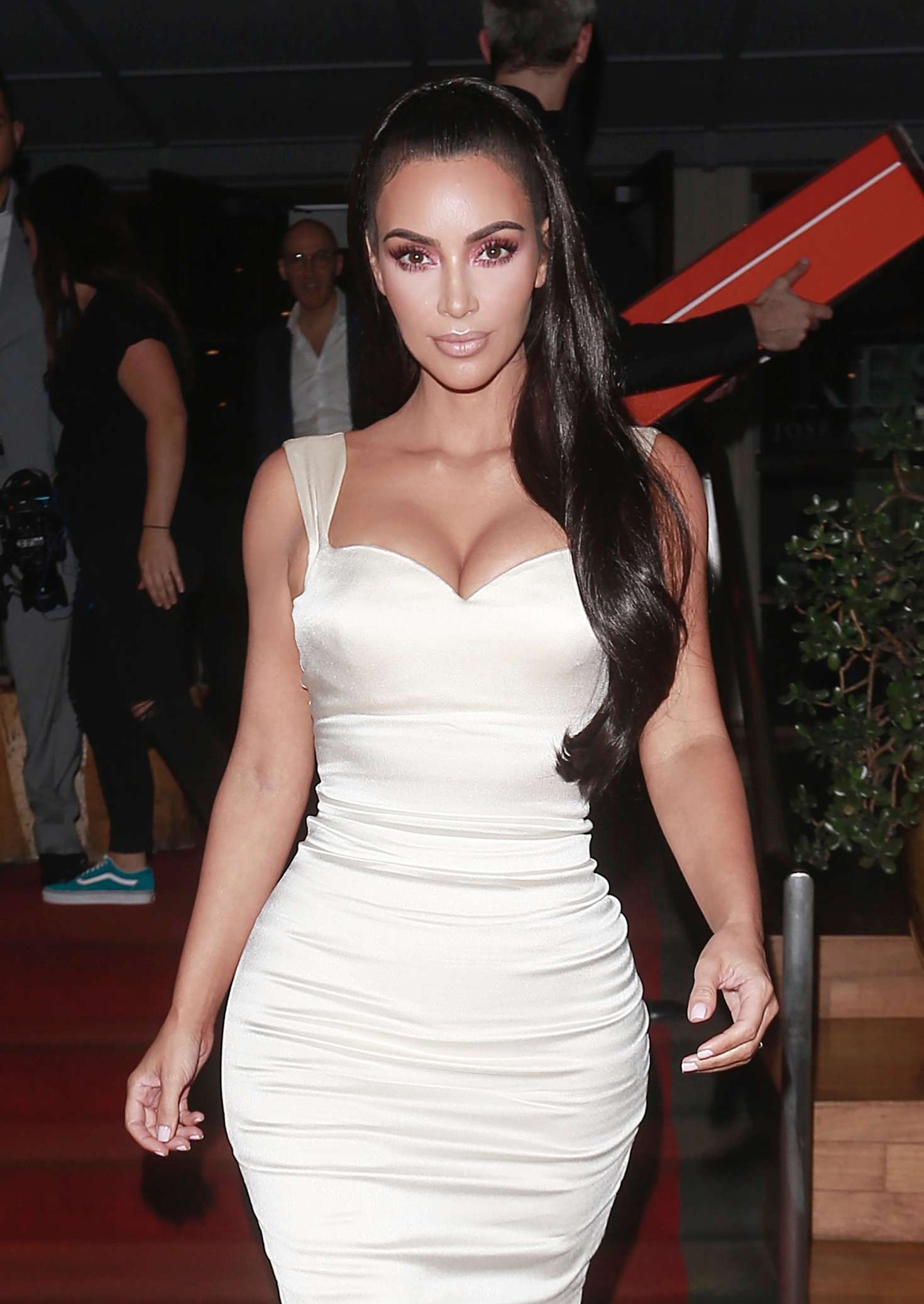 Kim Kardashian stunned in see-through PVC open toe sandals with high heel and PVC-straps