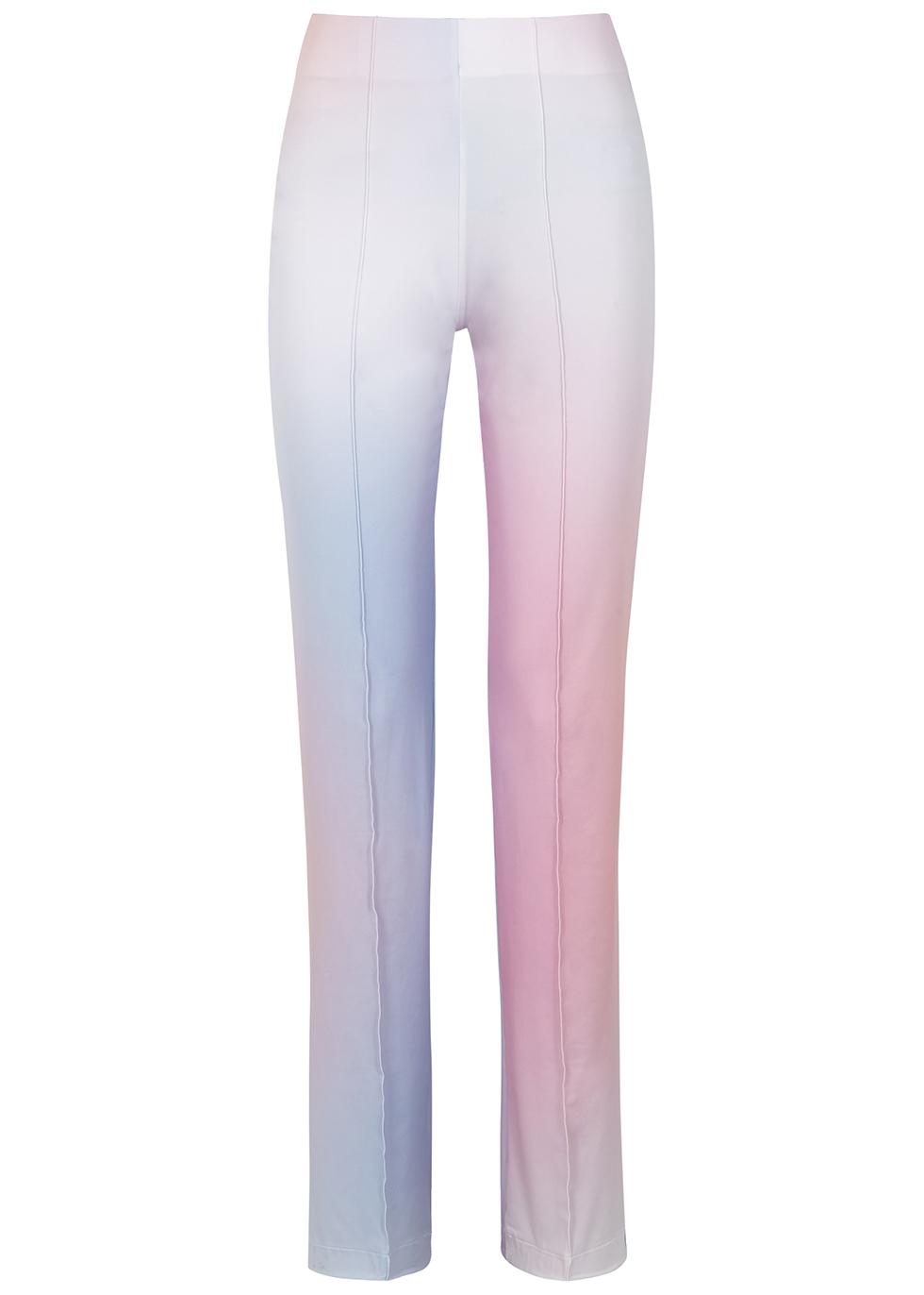 Kylie Jenner rocking Purple straight fit pants