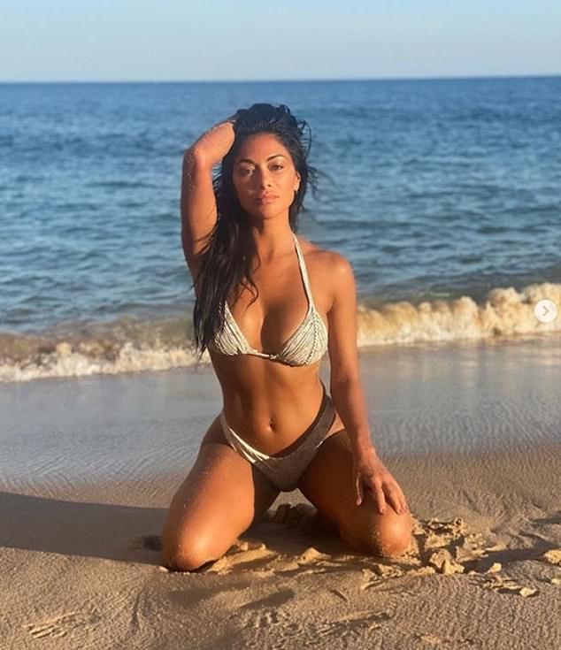 Nicole Scherzinger sizzled in White bikini bottom