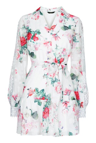 Abbey Clancy x Lipsy Printed Shirt Dress by Lipsy, available on next.co.uk for EUR65 Abbey Clancy Dress Exact Product