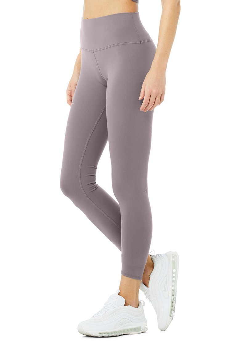 7/8 HIGH-WAIST AIRBRUSH LEGGING by Alo Yoga, available on aloyoga.com for $78 Alessandra Ambrosio Pants Exact Product