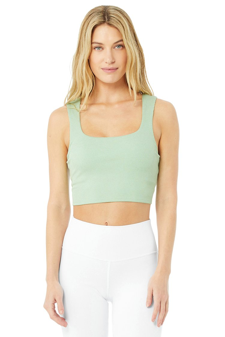 ALOSOFT RIBBED CHIC BRA TANK by Alo Yoga, available on aloyoga.com for $58 Alessandra Ambrosio Top Exact Product