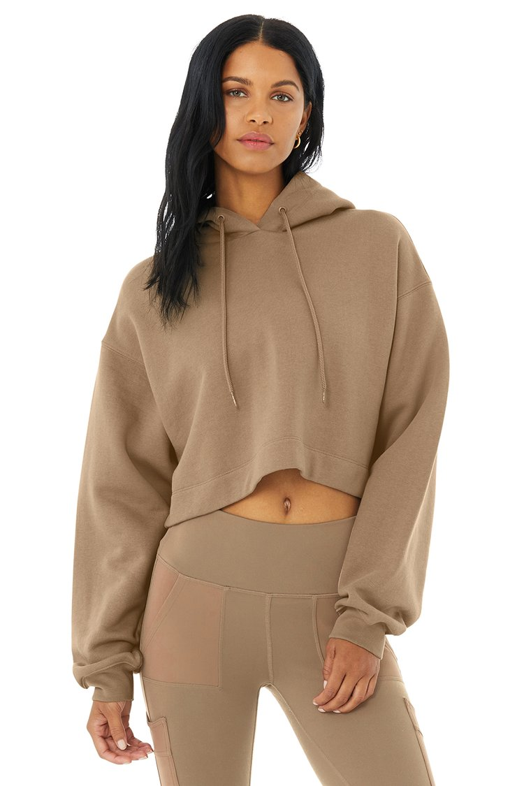BAE HOODIE by Alo Yoga, available on aloyoga.com for $88 Alessandra Ambrosio Top Exact Product