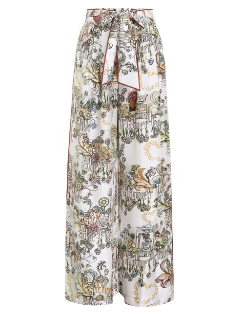 Botanica Wide Leg Trouser   BOTANICA WIDE LEG TROUSER by Zimmermann, available on zimmermannwear.com for $630 Alessandra Ambrosio Pants Exact Product