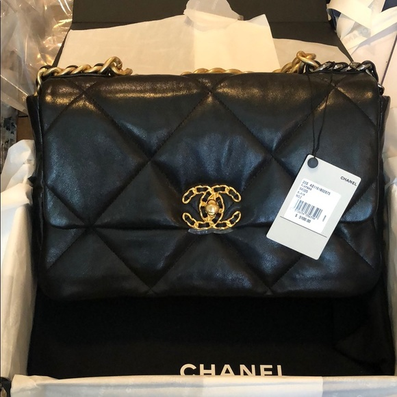 Chanel 19 black medium by Chanel, available on poshmark.com for $7300 Alessandra Ambrosio Bags Exact Product
