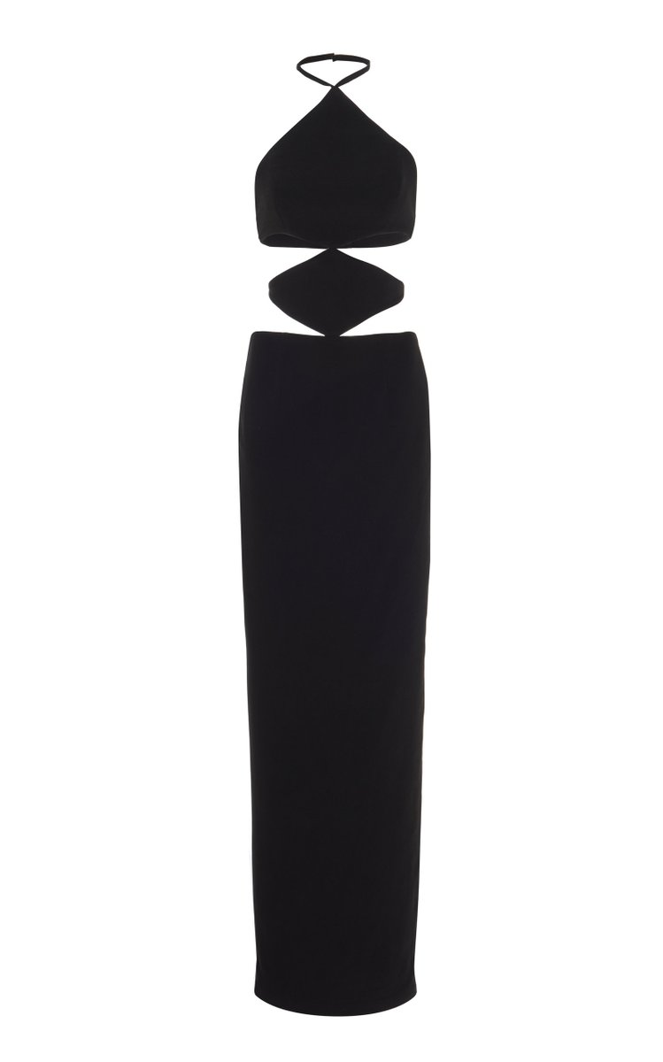 Cutout Stretch Crepe Gown by Monot, available on modaoperandi.com for $715 Alessandra Ambrosio Dress Exact Product