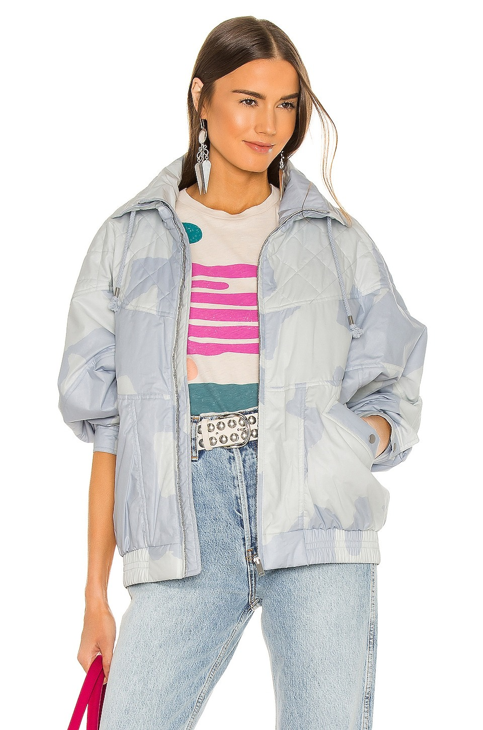 Diaomia Jacket by Isabel Marant Etoile, available on revolve.com for $229 Alessandra Ambrosio Outerwear Exact Product
