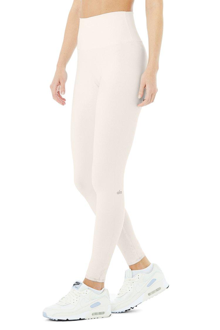HIGH-WAIST AIRBRUSH LEGGING by Alo Yoga, available on aloyoga.com for $88 Alessandra Ambrosio Pants Exact Product