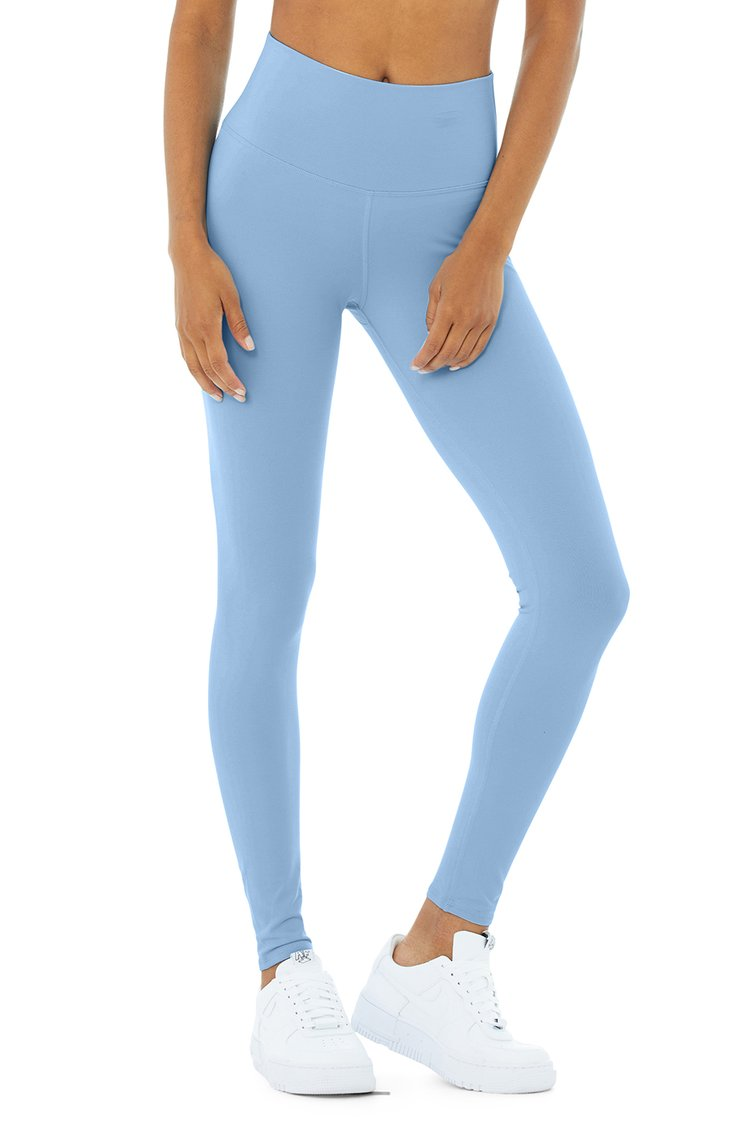 HIGH-WAIST AIRBRUSH LEGGING by Alo, available on aloyoga.com for $44 Alessandra Ambrosio Pants Exact Product