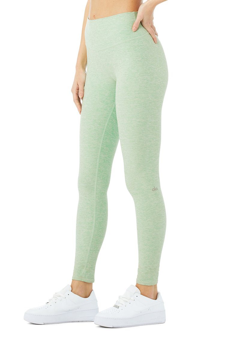 HIGH-WAIST ALOSOFT HIGHLIGHT LEGGING by Alo Yoga, available on shopify.com for $88 Alessandra Ambrosio Pants Exact Product
