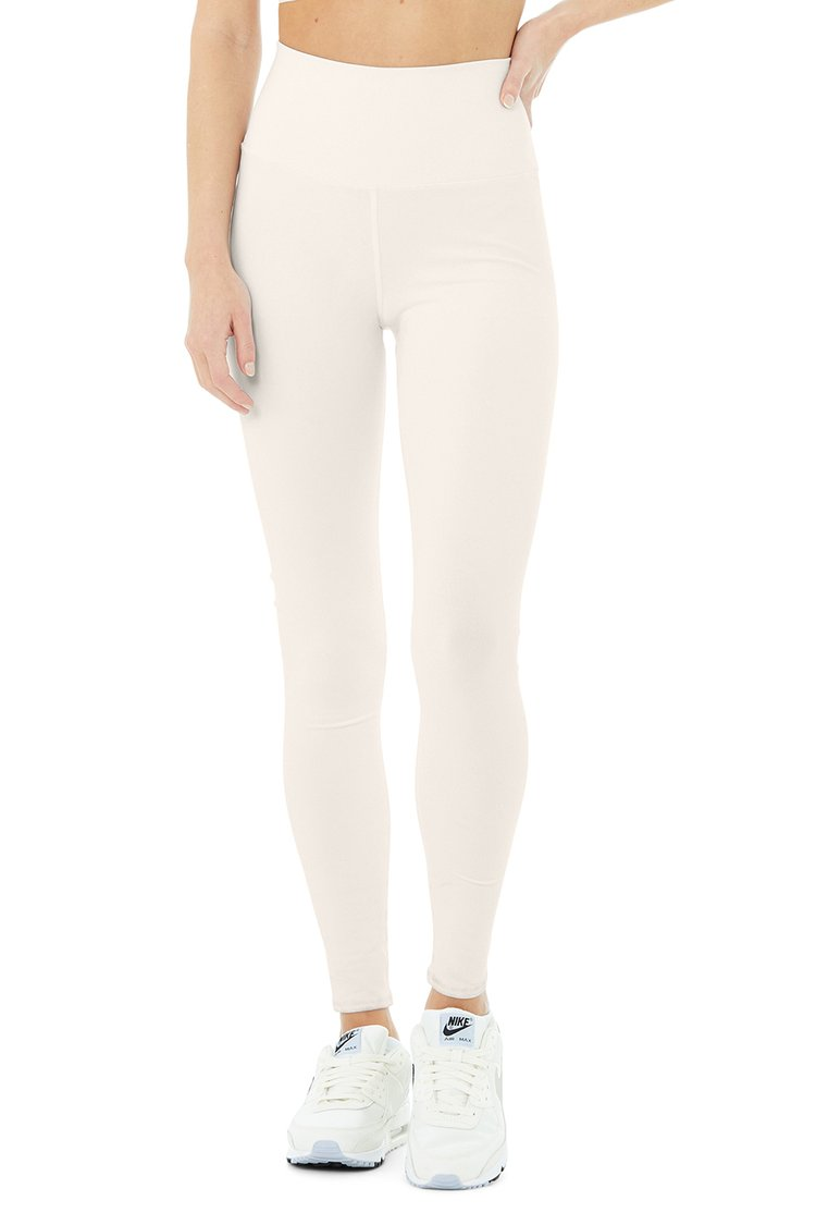 HIGH WAIST AIRBRUSH LEGGING by Alo, available on aloyoga.com for $82 Alessandra Ambrosio Pants Exact Product