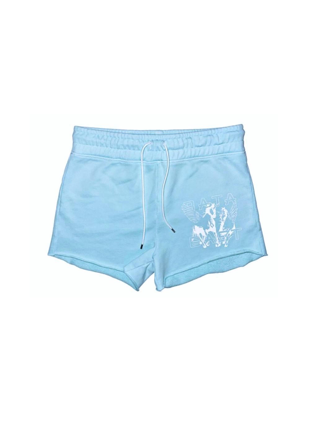HOT SHORTS WITH FLYING UNICORNS IN BABY BLUE by Baja East, available on bajaeast.com for $145 Alessandra Ambrosio Shorts Exact Product