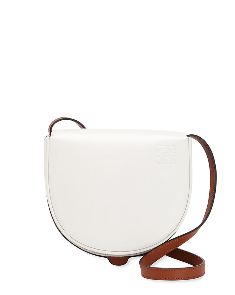 Heel Bicolor Horseshoe Crossbody Bag by Loewe, available on neimanmarcus.com for $1750 Alessandra Ambrosio Bags Exact Product
