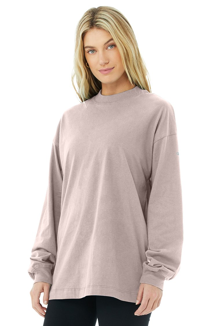 IT GIRL LONG SLEEVE by Alo, available on aloyoga.com for $52 Alessandra Ambrosio Top Exact Product