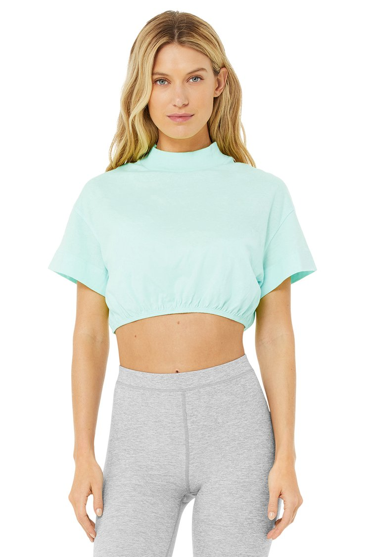 KICK IT CROP TEE by Alo, available on aloyoga.com for $24 Alessandra Ambrosio Top Exact Product