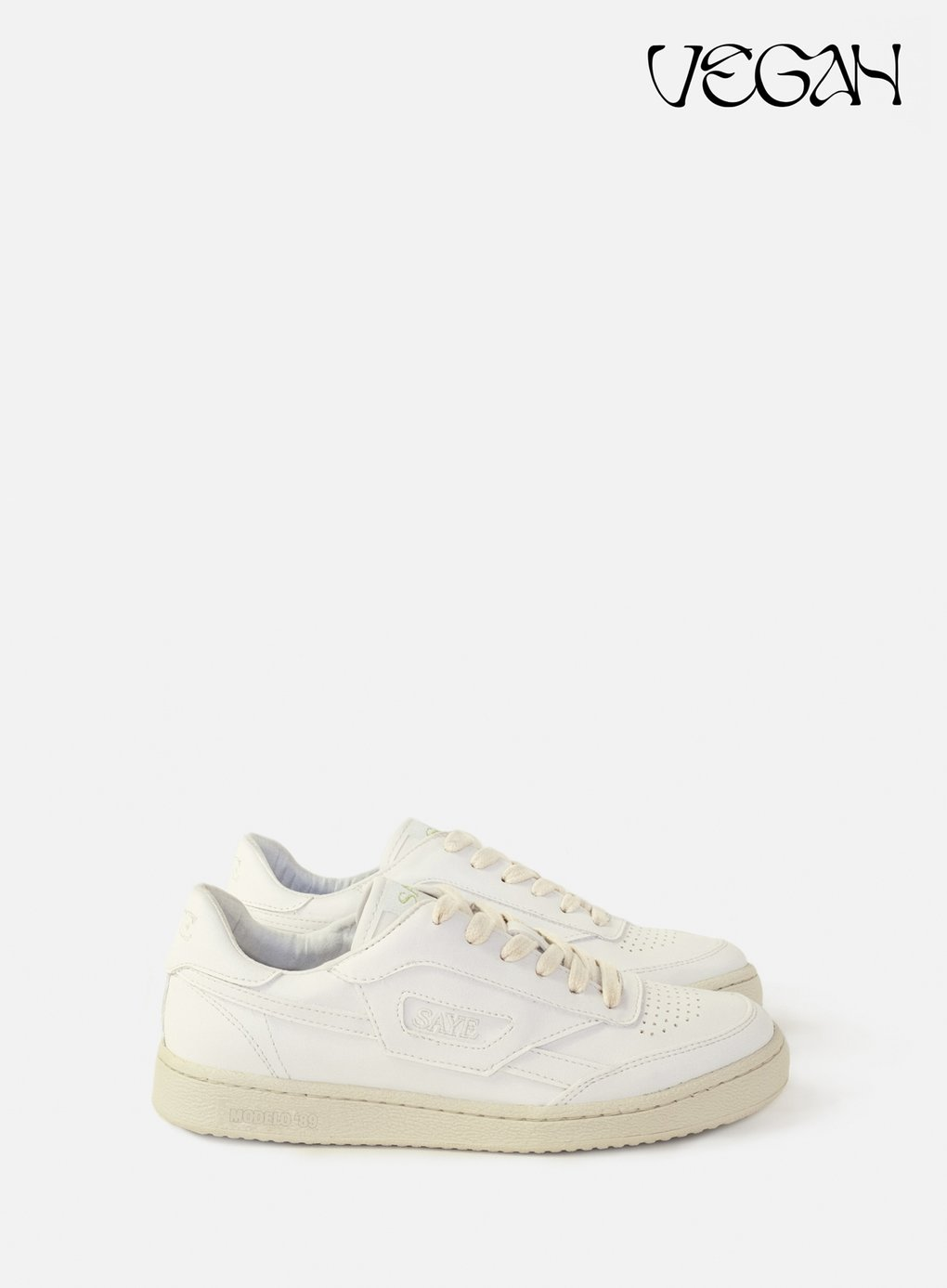 MODELO '89 VEGAN WHITE by Saye, available on sayebrand.com for EUR129 Alessandra Ambrosio Shoes Exact Product