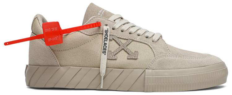 Off-White Vulc Sneaker 'Beige' by goat, available on goat.com Alessandra Ambrosio Shoes Exact Product