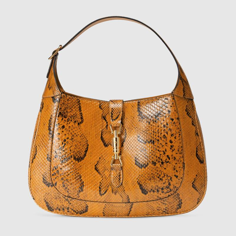 Online Exclusive Jackie 1961 python bag by Gucci, available on gucci.com for $4600 Alessandra Ambrosio Bags Exact Product