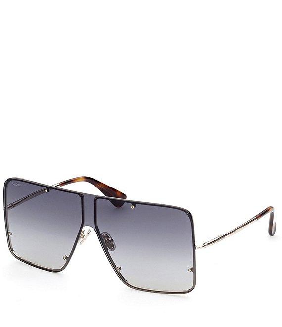 Oversized Shield Sunglasses by Max Mara, available on dillards.com for $312.5 Alessandra Ambrosio Sunglasses Exact Product