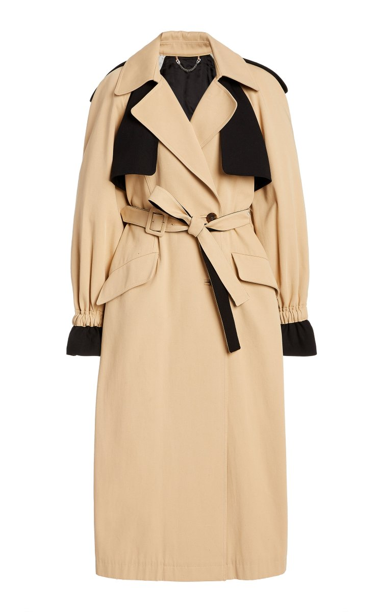 Paige Belted Cotton Trench Coat by Jonathan Simkhai, available on modaoperandi.com for $398 Alessandra Ambrosio Outerwear Exact Product