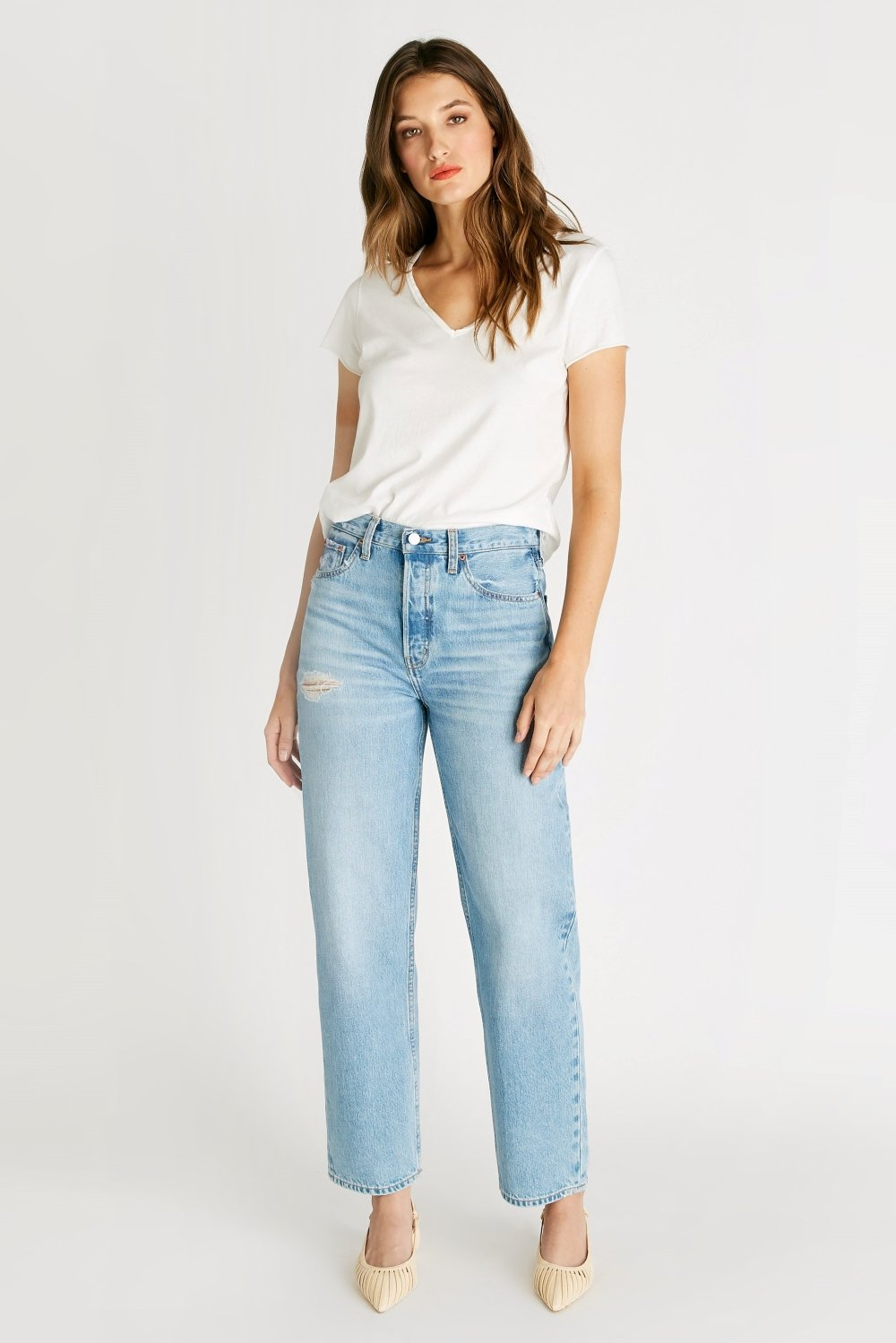 Tyler High Rise Vintage Straight - Mystic Canyon by Etica Denim, available on eticadenim.com for $178 Alessandra Ambrosio Pants Exact Product