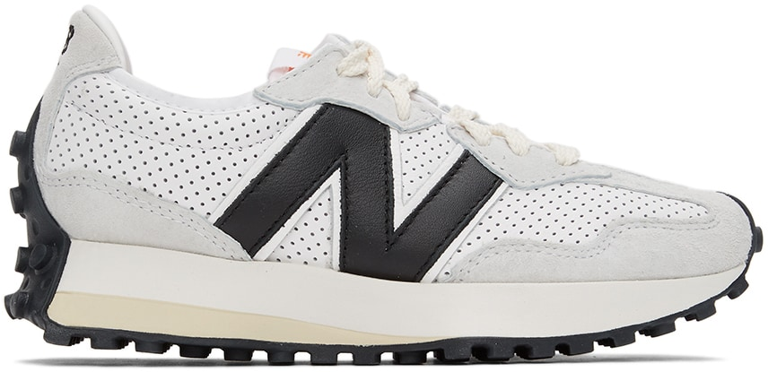 White & Black Casablanca Edition 327 Sneakers by New Balance, available on ssense.com for $150 Alessandra Ambrosio Shoes Exact Product