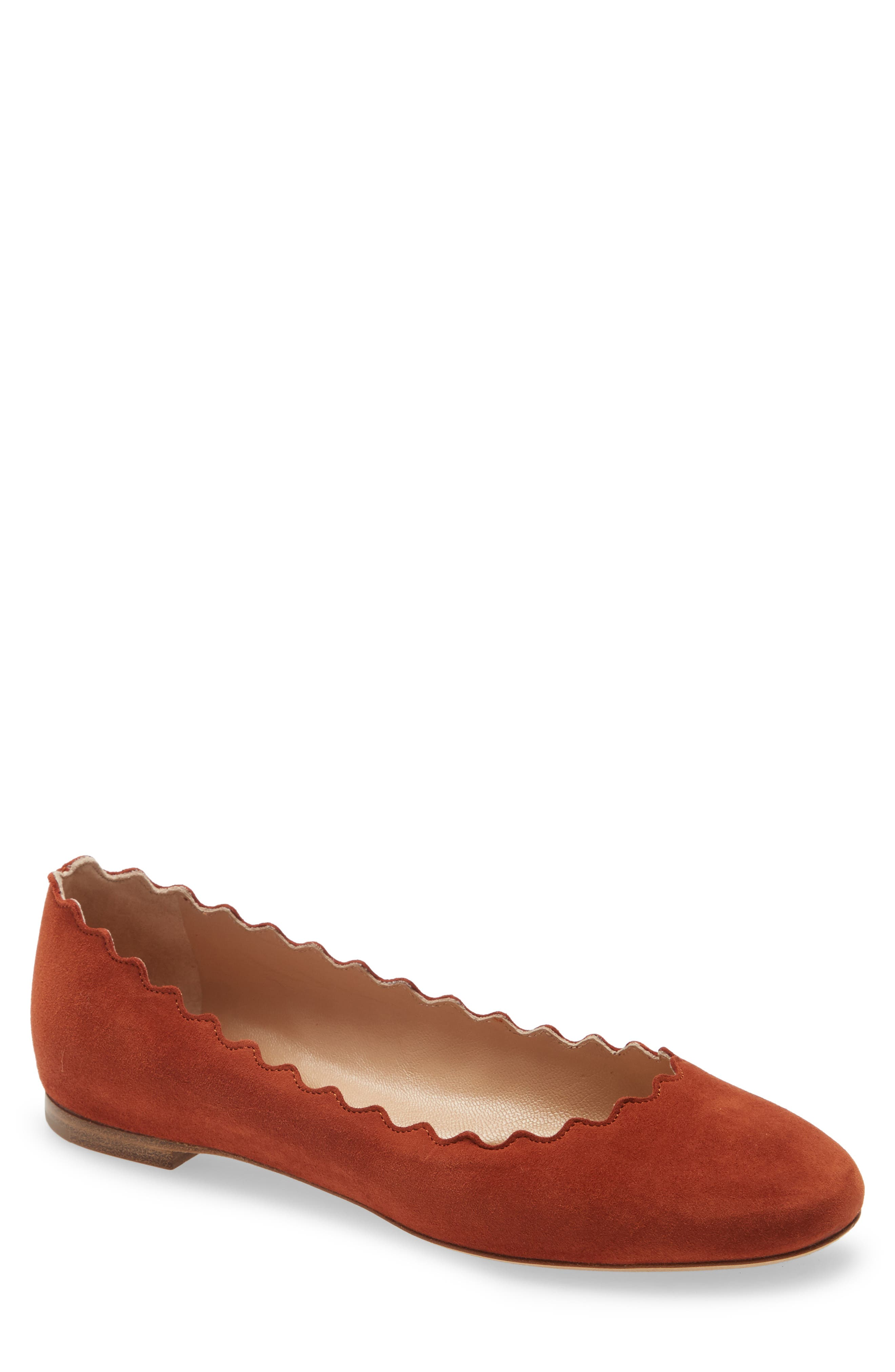 Lauren Ballerina Flats by Chloe, available on nordstrom.com for $515 Angelina Jolie Shoes Exact Product