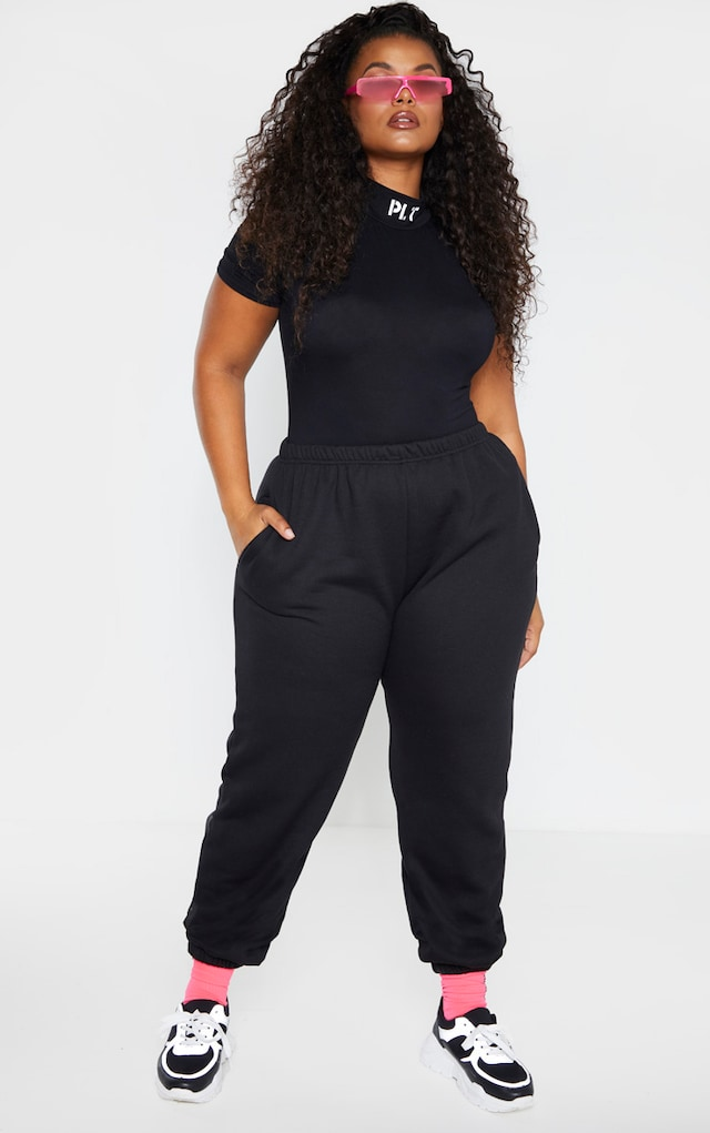 Plus Black Casual Jogger by Pretty Little Thing, available on prettylittlething.com for $18 Ariana Grande Pants SIMILAR PRODUCT