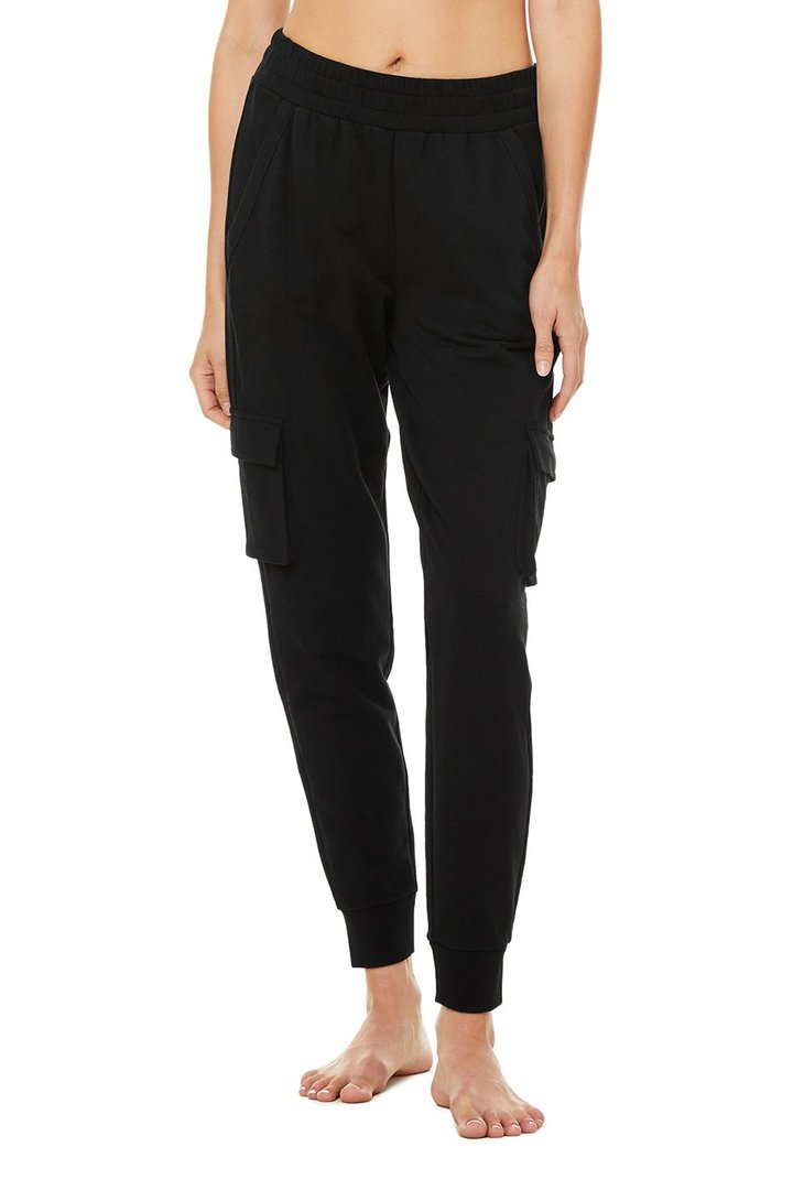 Unwind Cargo Pant - Black by Alo Yoga, available on aloyoga.com for $108 Ariana Grande Pants SIMILAR PRODUCT