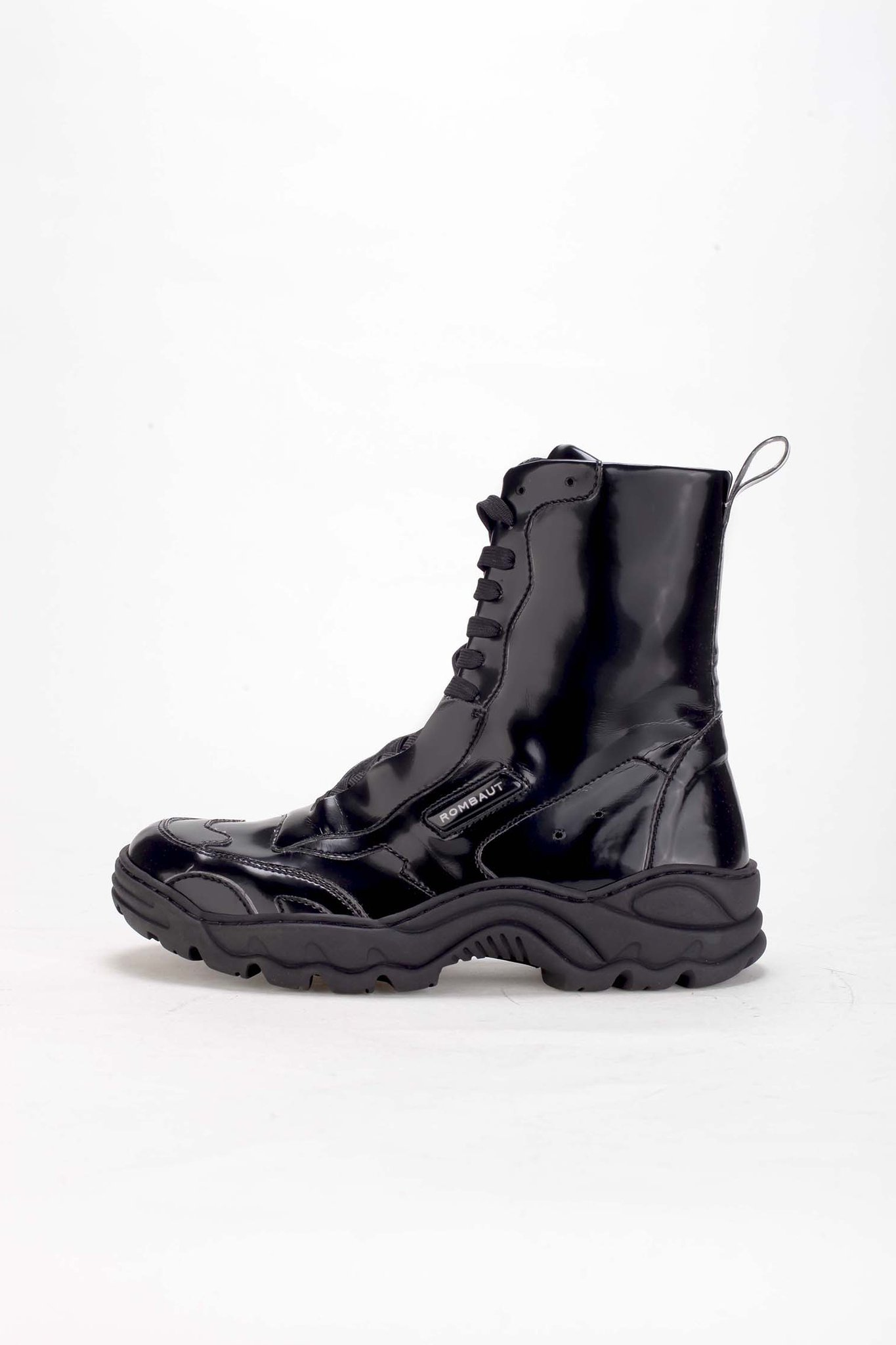 BOCCACCIO BOOT black patent by Rombaut, available on rombaut.com for $381 Bella Hadid Shoes Exact Product