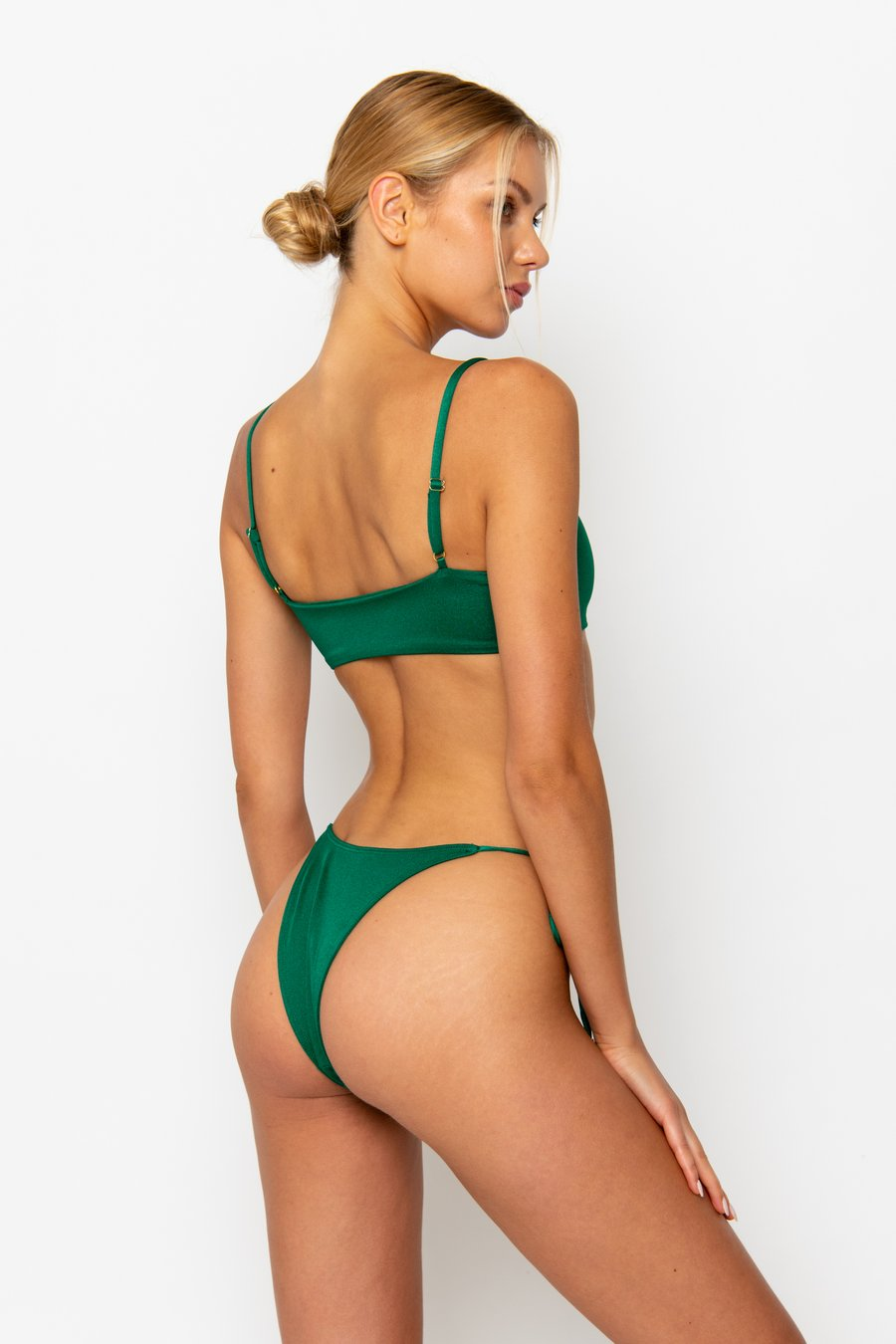 CARA Emerald - Brazilian Bikini Bottoms by Sommer Swim, available on sommerswim.com for $69 Bella Hadid Shorts SIMILAR PRODUCT