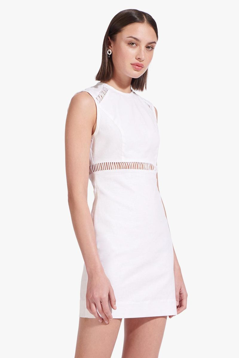 CRICKET DRESS  WHITE by Staud for $195 Bella Hadid Dress SIMILAR PRODUCT