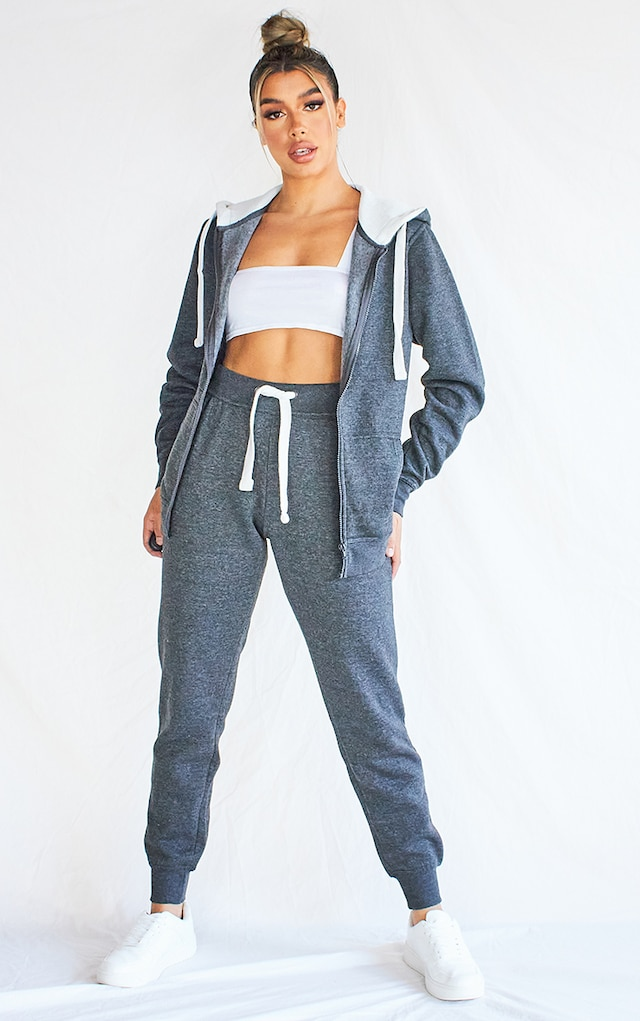 Charcoal Grey Thick Drawstring Joggers by Pretty Little Thing, available on prettylittlething.com for $17 Bella Hadid Pants SIMILAR PRODUCT