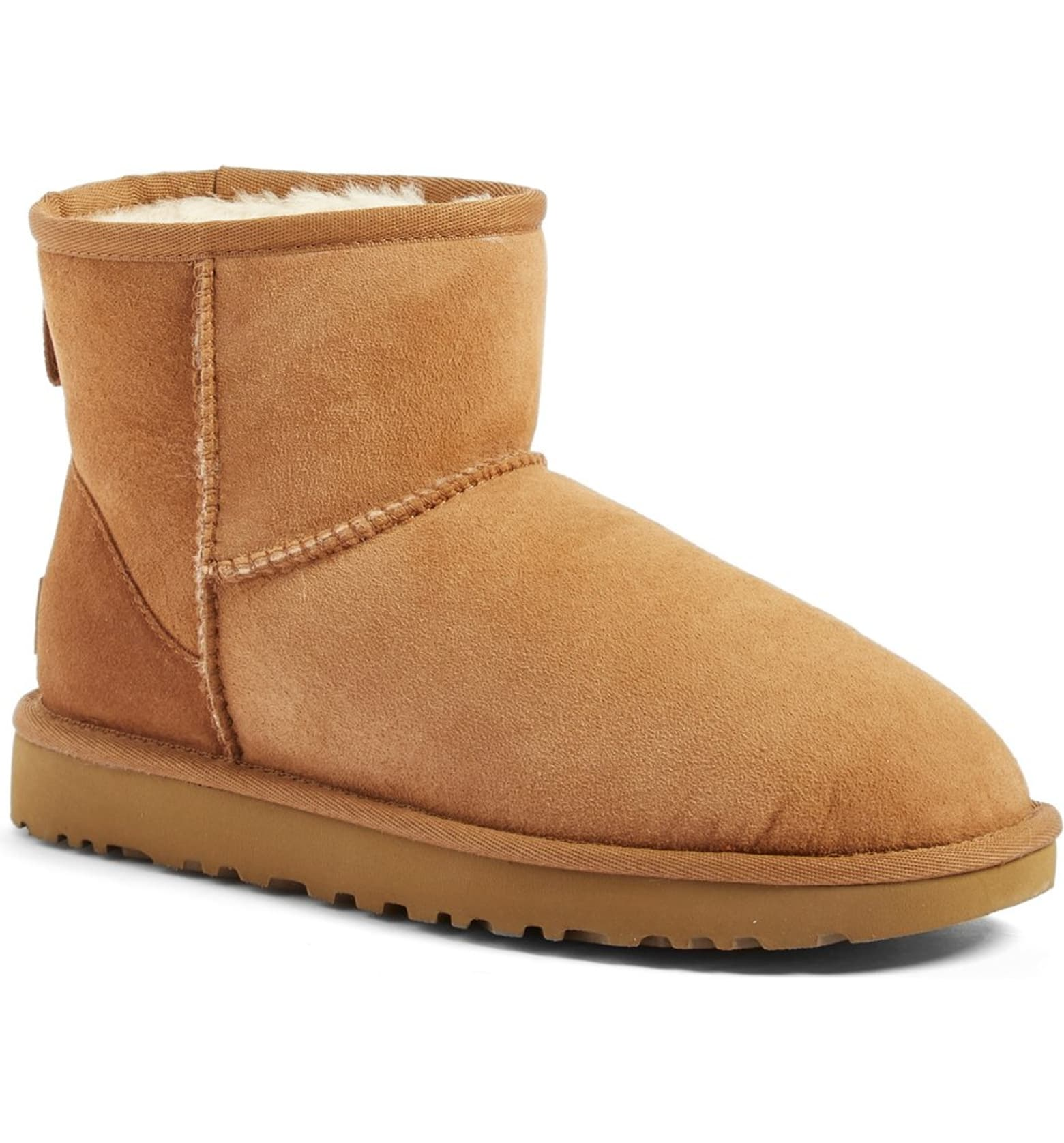 Classic Mini II Genuine Shearling Lined Boot by Ugg, available on nordstrom.com for $139.95 Bella Hadid Shoes Exact Product