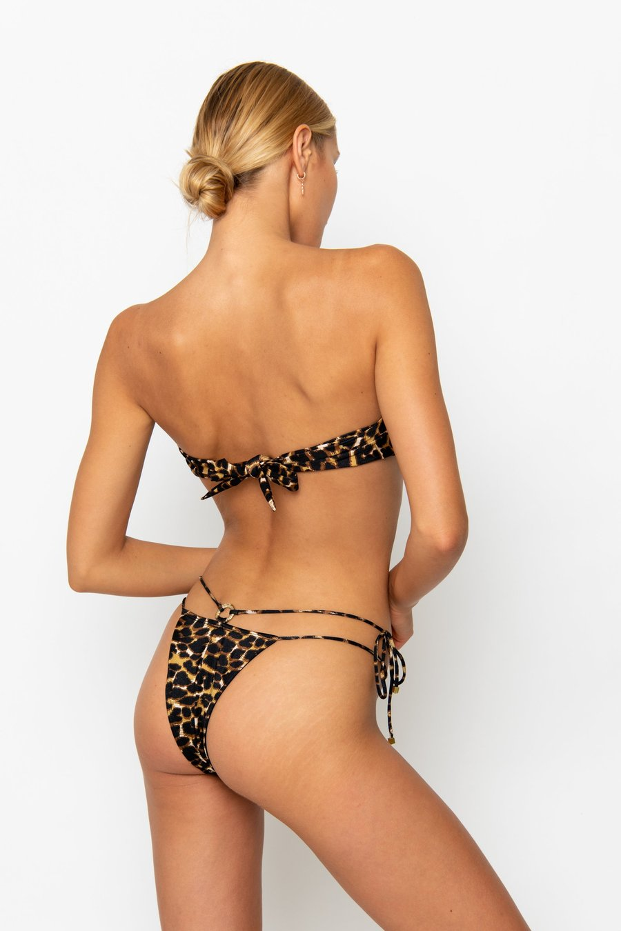 DULCE LEOPARD LUXE - TIE SIDE BIKINI BOTTOM by Sommer Swim, available on sommerswim.com for $69 Bella Hadid Shorts SIMILAR PRODUCT