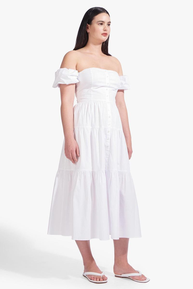 ELIO DRESS  WHITE by Staud for $285 Bella Hadid Dress SIMILAR PRODUCT