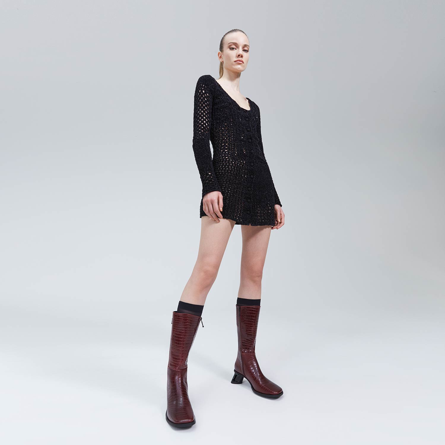 Faye Dress by eytys, available on eytys.com Bella Hadid Outerwear Exact Product
