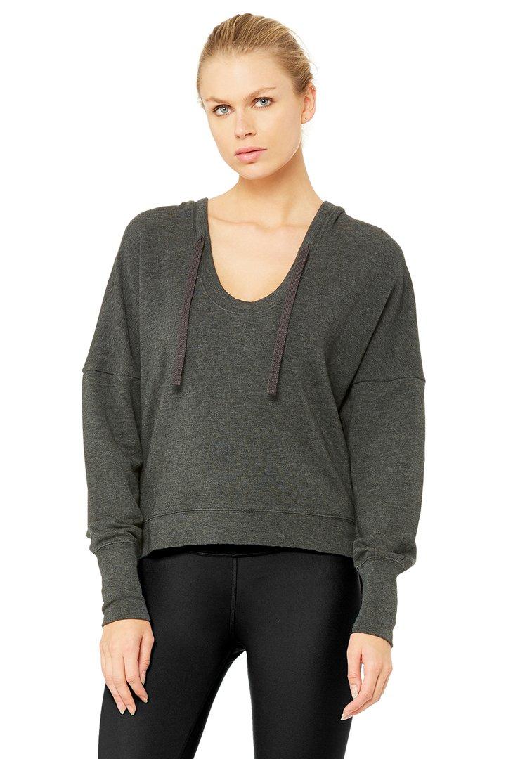 Fluid Long Sleeve Top by Alo Yoga, available on aloyoga.com for $72 Bella Hadid Outerwear SIMILAR PRODUCT