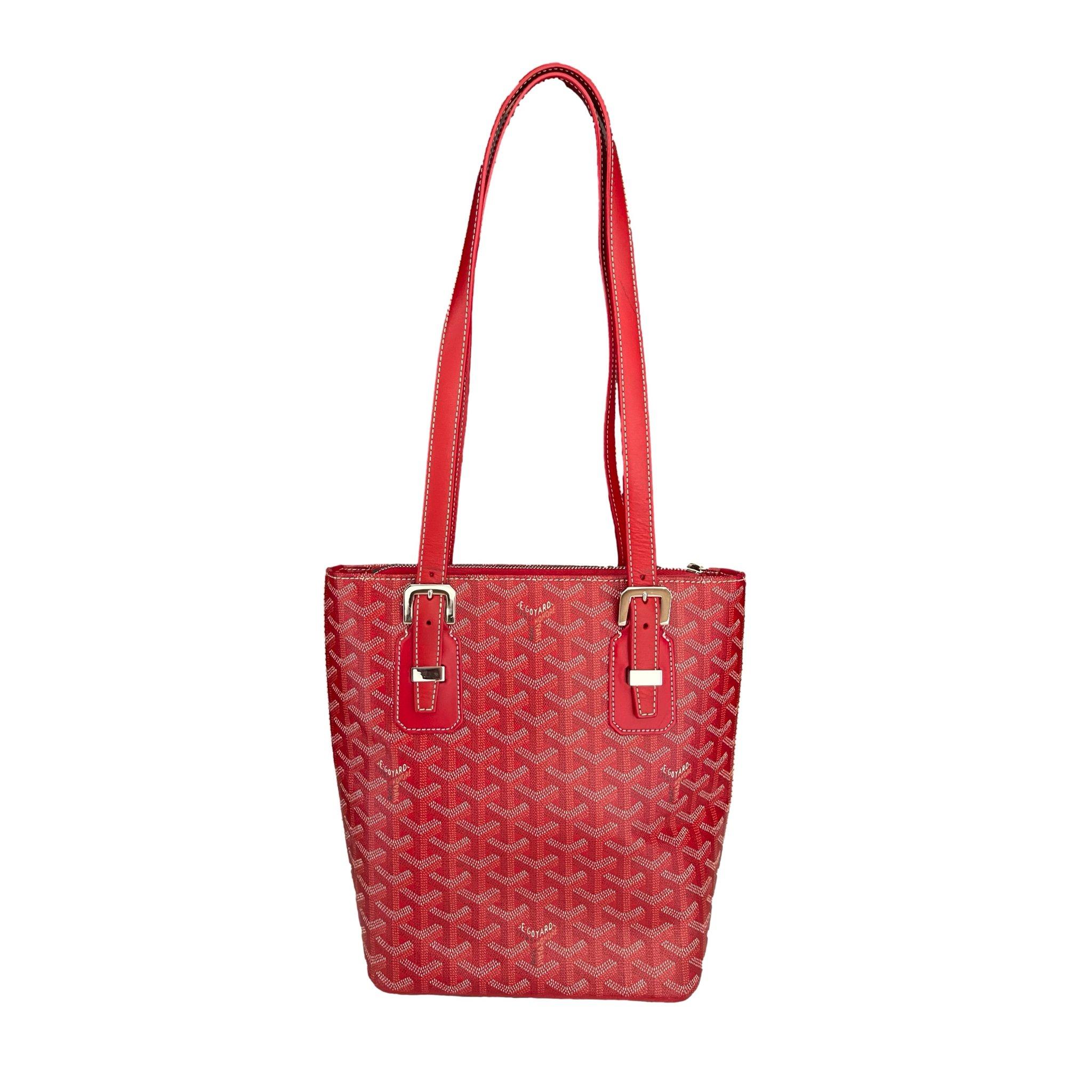 Goyard Red Monogram Tote by Treasures, available on treasuresofnewyorkcity.com for $1690 Bella Hadid Bags Exact Product