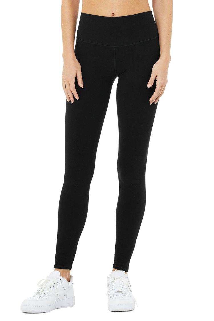 HIGH-WAIST ALOSOFT HIGHLIGHT LEGGING by Alo Yoga, available on aloyoga.com for $98 Bella Hadid Pants Exact Product